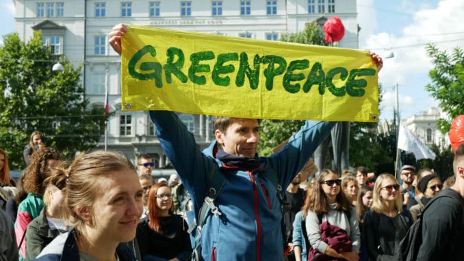demonstration against climate change