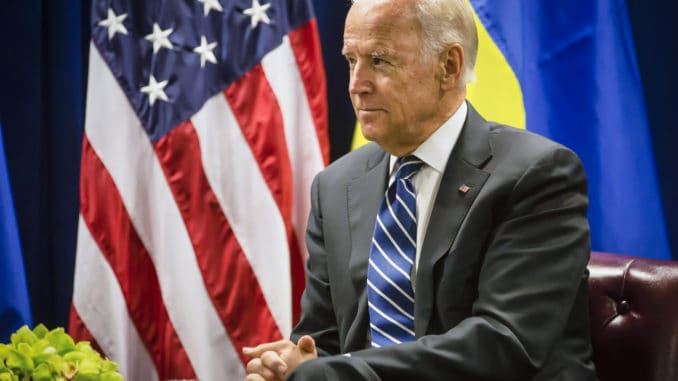 Biden with American Flag