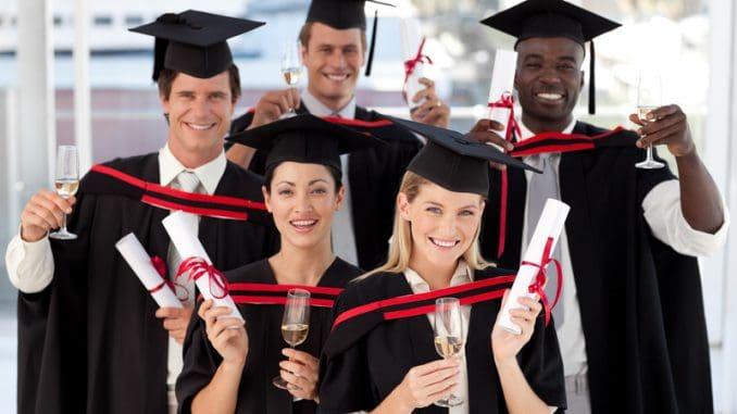Muti ethnic people Graduating from College