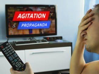 Agitation and propaganda in the modern television
